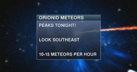 Orionid Meteor Shower Hitting Her Stride!
